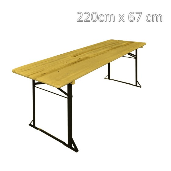 Mesa Plegable Rectangular Madera