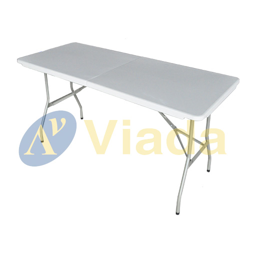 mesa plegable regulable en altura rectangular grande