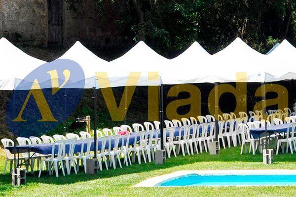 conjunto mesa plegable para el jardín o para bodas