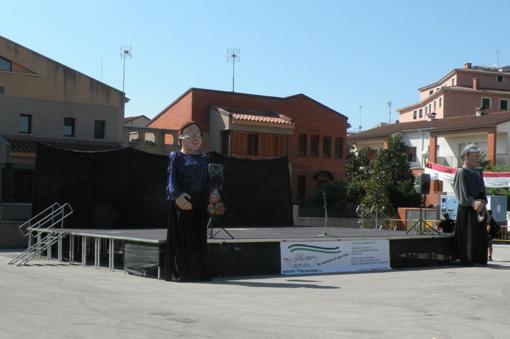 Escenario en Fiesta Mayor