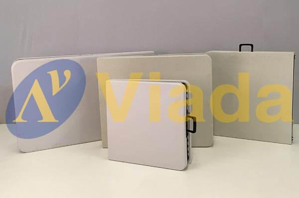 mesa maleta plegable blanca