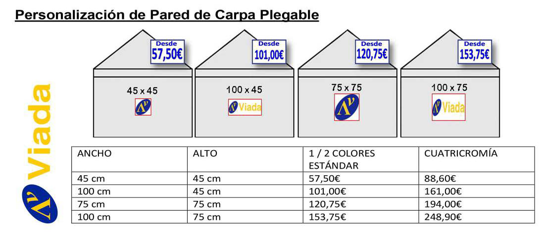personalizar pared carpa plegable