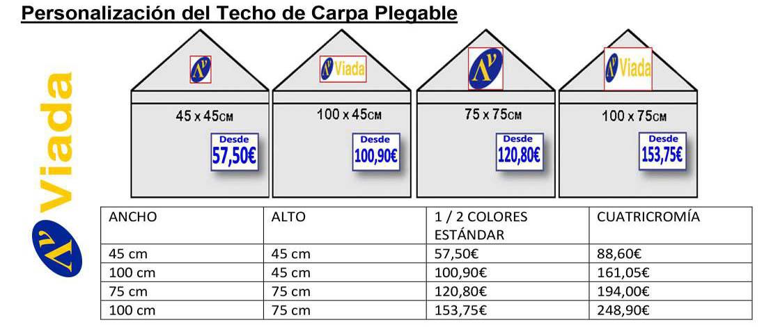 personalizar techo carpa plegable