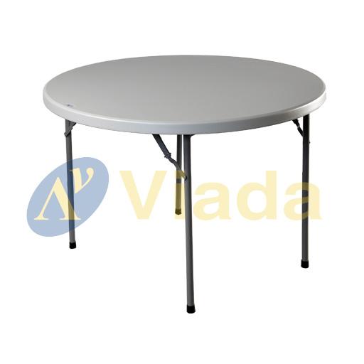 mesa plegable tipo maleta redonda