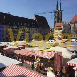 Carpas plegables Enduro en la Feria Medieval de Núremberg